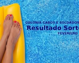 Resultado Sorteio: COL. CABOS E SOLDADOS – FEV. 2015