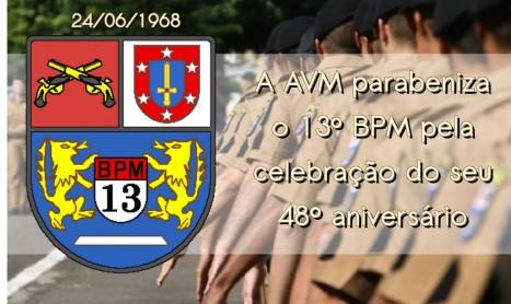 Parabéns a PMPR e aos integrantes do 13º BPM