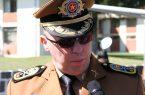 Solenidade em comemoração aos 162 anos da Polícia Militar do Paraná na Academia Policial Militar do Guatupê. Na foto o Comandante-Geral da PMPR, Coronel Maurício Tortato.